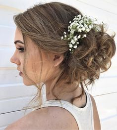 Formal Updo (@savannahjo_hairstylist) #formalhair #promhair #prom #curlyhair #babybreath #skysthelimit #gaffneysc #gaffneyhair