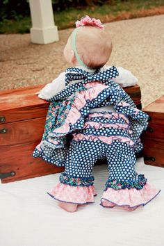 Olivia's Ruffle Butt Baby Pants   Sewing Pattern    YouCanMakeThis.com