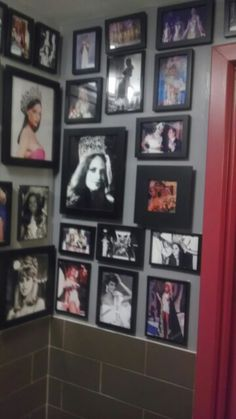 Bathroom of Pica Pica (tasty venezuelan arepas) is wall to wall covered with photos of the many Ms Venezuelas that have rocked the ms universe contests over the yrs.
