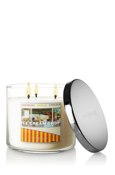 These are THE BEST scented candles ever!  And they come in so many scents!  Ice Cream Shop 14.5 oz. 3-Wick Candle - Slatkin & Co. - Bath & Body Works