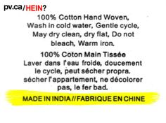 Hein? | Protégez-Vous.ca Bad Translations, Dry Cleaning, Hand Weaving, How To Make, Hand Knitting, Dry Cleaning Business