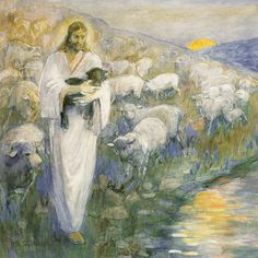 Rescue of the Lost Lamb, Minerva Teichert, LDS Art Christ | Church of Jesus Christ | Image of Christ | Latter Day Saint | LDS | Come Follow Me | Jesus Christ | Savior | Book of Mormon | Share Goodness | Lds.org | LDS Artwork | Well Within Her #churchofjesuschrist #jesuschrist #christ #savior #sharegoodness #latterdaysaint #lds #comefollowme #wellwithinher Art Prints, Fine Art, Painting, Minerva Teichert, Lds Art, Realistic Art, Art, Canvas Giclee, Christian Art