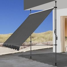 Quick-Star 200 x grey retractable terrace awning Colour: Bordeaux Side Wall, Patio, Framing Materials, Country Of Origin, Steel Frame, Outdoor Furniture, Outdoor Decor, Sun Lounger, Bordeaux
