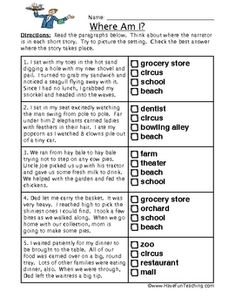 Inferences Worksheet For Third Grade