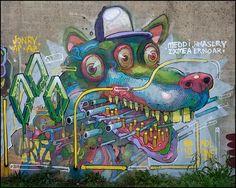 Street art artist Aryz - - Check more @ http://www.Streetart.nl or @﴾͡๏̯͡๏﴿ StreetART.blogspot.com #◄.nl #streetart #Aryz
