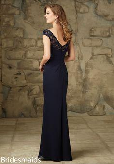 Bridesmaids Dress 105 Lace and Chiffon