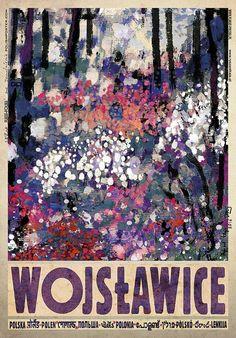Wojsławice, arboretum, plakat z serii Polska Ryszard Kaja