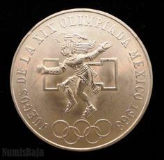 25 Pesos de plata Olimpiadas de México 1968