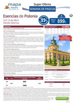 Esencias de Polonia Semana De Pascua desde Valencia**Precio final desde 899** ultimo minuto - http://zocotours.com/esencias-de-polonia-semana-de-pascua-desde-valenciaprecio-final-desde-899-ultimo-minuto/