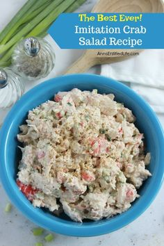 Imitation Crab Salad Recipe. This is simply the best imitation crab salad you will ever make! Serve it for lunch or as a dinner side. Easy to make, this imitation crab salad is truly fabulous.