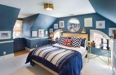nice upholstered bed, Liz Caan Interiors