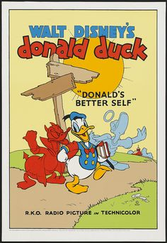 Theatrical poster of Donald Duck in Donald's Better Self.