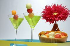 Melon and Gin Summer Cocktail Shake things up with a delicious fruit cocktail that takes melon balls to a whole