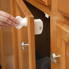 Magnetic Locking System Childproofing - so genius! Love that it doesn't have to be screwed in.