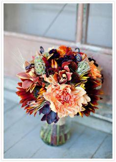 Fall Autumn Brides Bouquets www.wisteria-avenue.co.uk