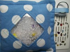I Spy Bag Blue with Polka Dots Boys themed contents I by JanetR