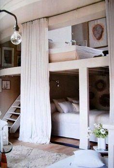 adult bunk beds. very cute idea