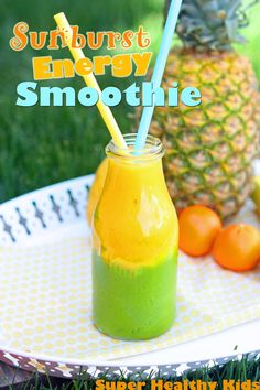 Try this fun twisted smoothie for your kids to add tons of nutrition to their diet and boost energy! #smoothies4kids from Super Healthy Kids