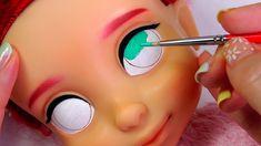How to Make a Barbie Doll Cap Doll Crafts, Diy Doll, Ooak Dolls, Art Dolls, Doll Hair Detangler, Disney Baby Dolls, Doll Face Paint, Clay Fairy House, Fondant Figures Tutorial