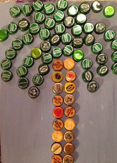 Bottle Cap Art by SipNCraft on Etsy https://www.etsy.com/listing/267044045/bottle-cap-art