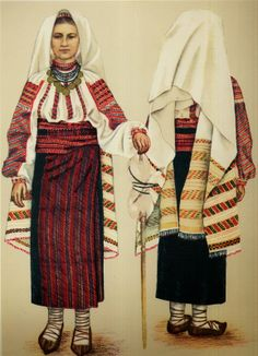 Popular Folk Embroidery Costume and Embroidery of Neamț County, Moldavia, Romania - FolkCostume Romania People, Popular Costumes, Women's Chemises, Folk Embroidery, Moldova, Folk Costume, Textiles, Fashion History, Traditional Dresses