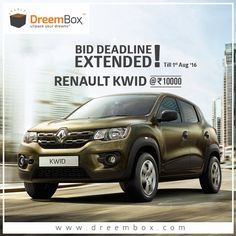 Great News.! Bidding Deadline Extended For These Two Products. Don't Miss The Chances Of Winning Renault Kwid & Yamaha YZF. Visit www.dreembox.com , Register And play. #win #contest #winner #bikes #cars #yamaha #kwid #crazy #dreembox #bid #auction #renault