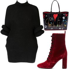 Untitled #2751 by kucherukksenia on Polyvore featuring polyvore, fashion, style, Yves Saint Laurent, Christian Louboutin and clothing