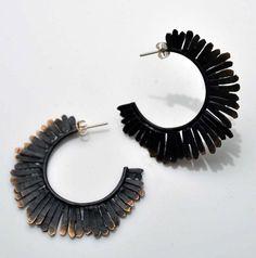 $45 Mohawk Hammered Earrings