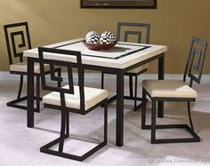 Surprising modern dining room sets canada just on shopy home design Modern Dining Room, Metal Dining Chairs, Iron Furniture, Metal Furniture Design, Furniture Design, Furniture Decor, Welded Furniture, Furniture, Metal Furniture