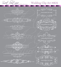 Digital Borders WHITE Frames Crowns cliparts by MSweetboutique, $5.99