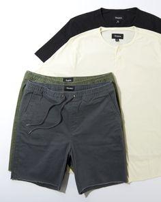 The Berkley Henley & Madrid Drawstring Shorts from #Brixton make a perfect summer pairing