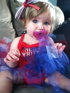 Petite independence day princess. Any reason is a good enough reason for a tulle skirt