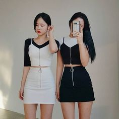 edgy korean fashion that looks trendy 53847 Korean Fashion Trends, Korea Fashion, Kpop Fashion, Cute Fashion, Asian Fashion, Girl Fashion, Fashion Dresses, Fashion Shirts, Fashion Styles