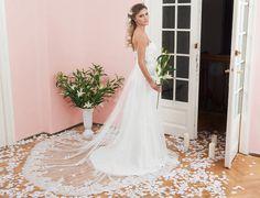 Rochie de mireasa Chrisella - Colectia 2015 Calin Events- rochii de mireasa sirena cu dantela si trena