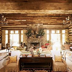 Celebrated creator Dan Carithers retired a couple of years ago however, not before he created a body of work that will stand the test of time. I first discovered his [Continue Read] Log Cabin Living, Log Cabin Homes, Log Cabins, Cottage Living, Southern Accents, Rustic Room, Rustic Lodge Decor, Boho Home, Cabin Design