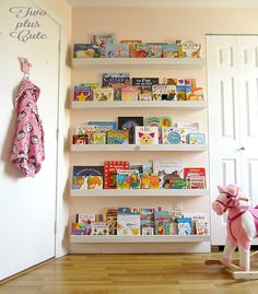 diy bookcase ledges for our nursery, bedroom ideas, shelving ideas Diy Nursery Furniture, Nursery Wall Decor, Wooden Bookcase, Built In Bookcase, Extra Storage Space, Storage Spaces, Girls Bedroom, Bedroom Ideas, Kid Bedrooms