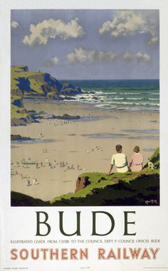St Ives Carbis Bay & Lelant, Cornwall. Vintage GWR Travel poster by Borlase…