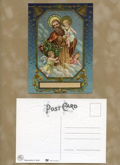 Victorian POST CARD, Victorian Christmas Postcard, Christian Postcard, Victorian Postcard, Vintage Reproduction Postcards by OneDayLongAgo on Etsy