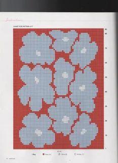 Tapestry Crochet Patterns, Intarsia Patterns, Fair Isle Knitting Patterns, Knitting Charts, Knitting Stitches, Punto Fair Isle, Knitted Flowers, Crochet Chart, Marimekko
