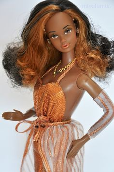 Got this lady in a great condition, including original box. Beautiful Barbie Dolls, Vintage Barbie Dolls, Pretty Dolls, Barbie Princess, Barbie Dress, Barbie Clothes, Black Barbie, Barbie Collector, Barbie World