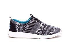 undefined Black White Cultural Woven Women's Del Rey Sneaker