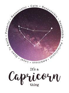 It's a Capricorn thing