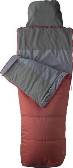 Marmot Mavericks 40 Sleeping Bag - Long Redstone/Dark Fire Long Left