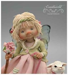 fairy puppets / fotogalerij | enaidsworld Polymer Clay Crafts, Diy Clay, Biscuit, Cold Porcelain, Porcelain Doll, Fairy Dolls, Felt Dolls, Clay Projects, Faeries