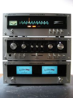 vintage Marantz stereo equipment..doesn't seem like it was so long ago..