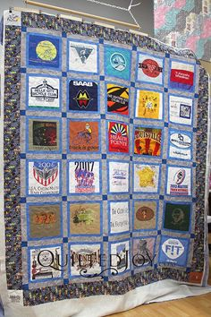T-shirt Quilt from Quilted Joy