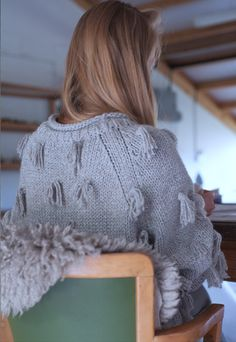 JUSTINE ASHBEE wearing our Luluc Fringe Crew Neck. Now available on Apieceapart.com.