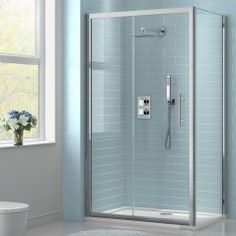 1000x800mm EasyClean Sliding Door Corner Shower Enclosure - 8mm Glass - Premium Range