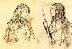 Oropher+Gil-galad by vampiry on DeviantArt Hobbit Art, The Hobbit, Gil Galad, Glorfindel, Mirkwood Elves, Legolas And Thranduil, Jrr Tolkien, The Elf, Middle Earth