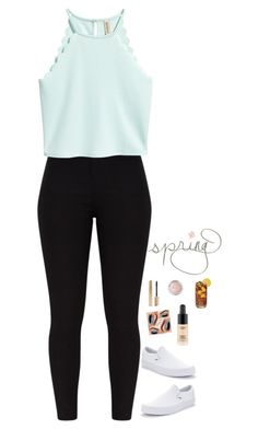 """hello spring"" by totallyelizabeth ❤ liked on Polyvore featuring Vans, MAC Cosmetics, Spring and spring2018"